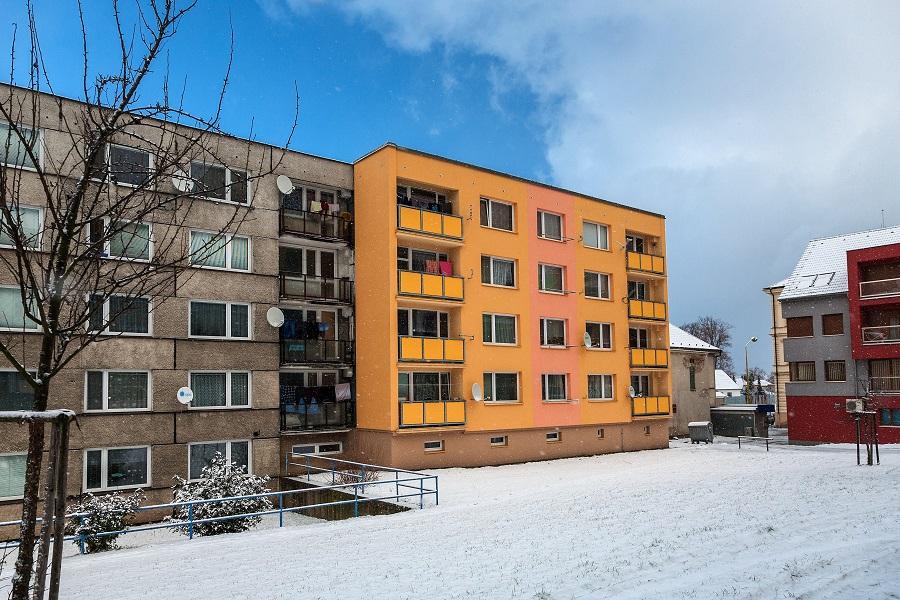Zateplení bytového domu ve Vlašimi
