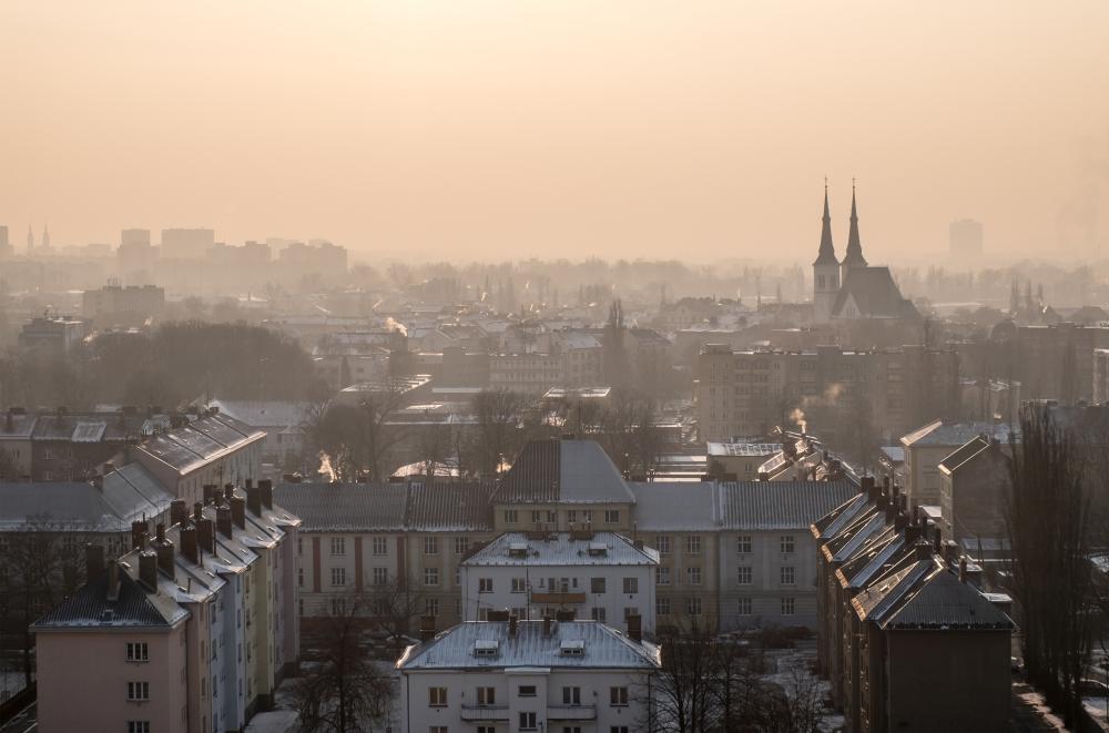 Ostrava zahalená ve smogu