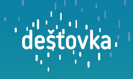 Dešťovka – logo bílé, viziuál