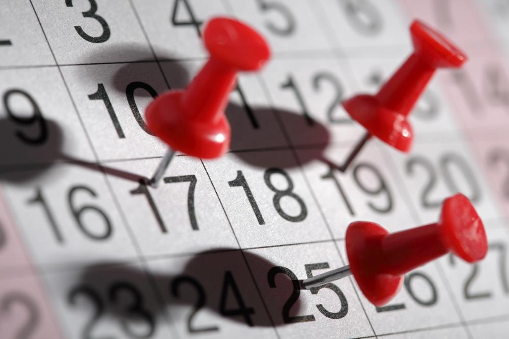 Důležité datum v kalendáři