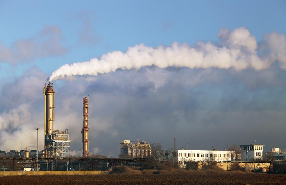 Znečštění ovzduší z průmyslové výroby