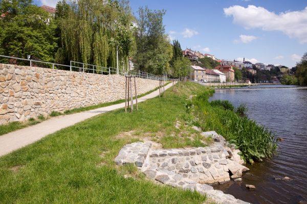 Revitalizace nábřeží řeky Lužnice v jihočeském městě Tábor.